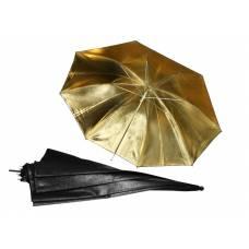 """Фото зонт 84см/33"""" золотистый студийный"""