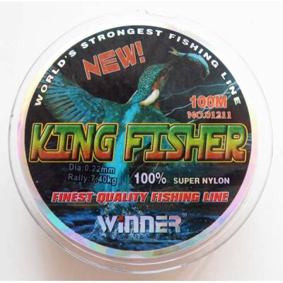 Леска Winner King Fisher 0,22 мм. 100 м.