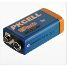 Аккумулятор PKCELL CR-9V Крона 6F22 6LR61 250 мА/ч