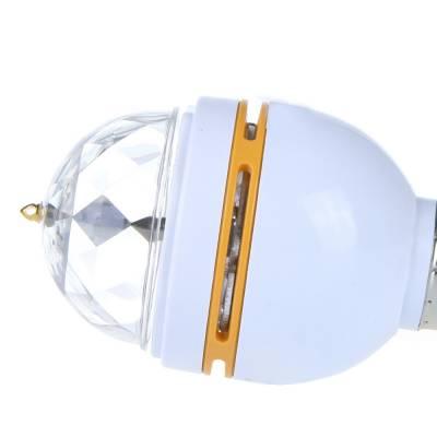 Вращающаяся цветная LED-лампа, звуковая активация