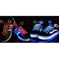 LED-шнурки, светящиеся, разноцветные
