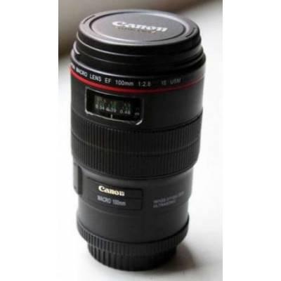 Чашка-термос объектив Canon EF 100 мм чёрная, кружка