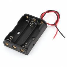 Бокс на 3 ААА батареи, 4,5 В кейс, питание Arduino