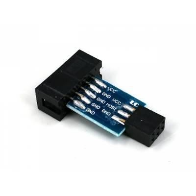 10 на 6 pin переходник, ATMEL AVRISP USBASP STK500