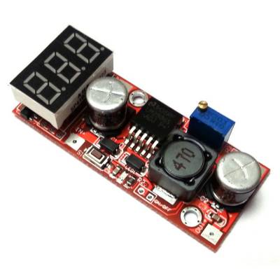 Понижающий конвертер постоянного тока с вольтметром