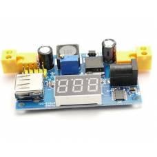 Понижающий конвертер тока с USB-гнездом и вольтметром