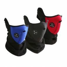 Теплая защитная маска, вело для шеи, лица черная