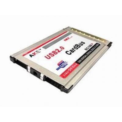 Компактний PCMCIA адаптер на 2 USB 2.0 порту, хаб