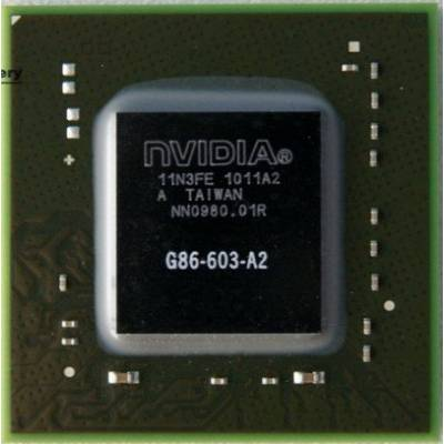 Чип NVIDIA G86-603-A2, чипсет с шарами BGA