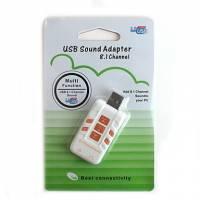 USB звуковая карта 8.1 3D звук 7 кнопок управления