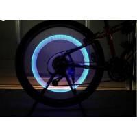 Светодиодная подсветка колес велосипеда, авто на ниппель, пара