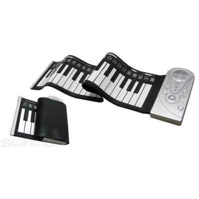 Гибкая MIDI клавиатура, синтезатор, пианино, 49 кл