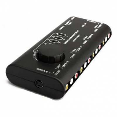 4-канальный RCA-свич, селектор AV S-Video