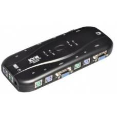 4-портовый KVM свич, переключатель PS/2 + 4 кабеля