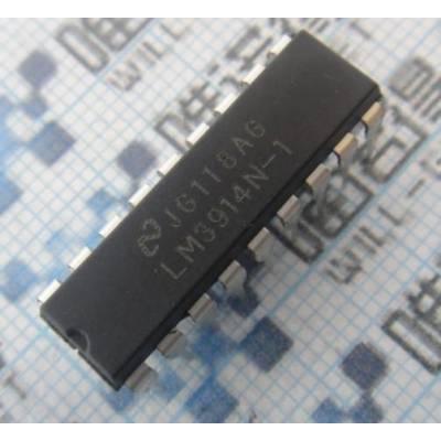 Чіп LM3914N-1 LM3914 DIP18 драйвер індикаторів