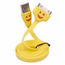 USB дата-кабель для Iphone 2g 3g 4 4s, LED-смайл