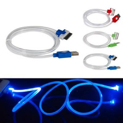 USB дата кабель для Iphone 2g 3g 4 4s, светящийся