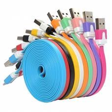 USB дата-кабель для Iphone 5 5C 5S 6 Ipad, плоский