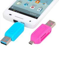 OTG USB MicroUSB MicroSD SD кардридер для Android