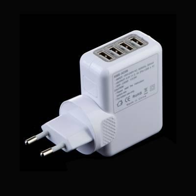 Сетевое зарядное, 4 USB, 5V 2.1A для Ipad
