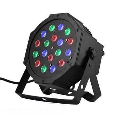 Лазерный проектор, RGB-цветомузыка, DMX512, 18х3 Вт