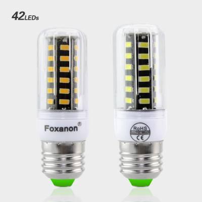 Светодиодная лампа LED E27 smd 5733, Foxacon 42 диода 4 Ватт