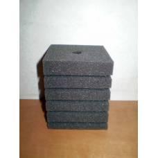 Фильтр -губка серая мелкопористая квадратная  8х8х10см