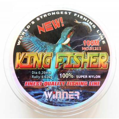 Леска Winner King Fisher 0,20 мм. 100 м. Камуфляж