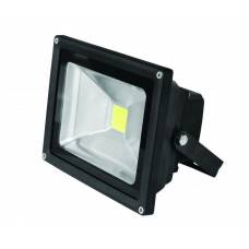 EUROELECTRIC LED Прожектор COB чёрный 30W 6500K classic