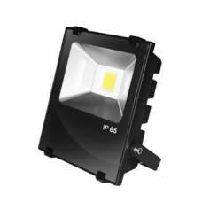 EUROELECTRIC LED COB Прожектор чёрный с радиатором 50W 6500K modern