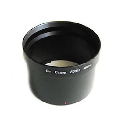 Адаптер объектива на 58мм для Canon S3 S5, кольцо