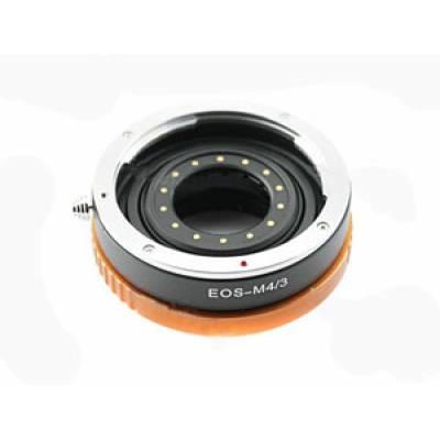 Адаптер переходник Canon EOS - M4/3 апертура золот Ulata