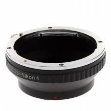 Адаптер перехідник Canon EOS - Nikon 1 J1, кільце Ulata