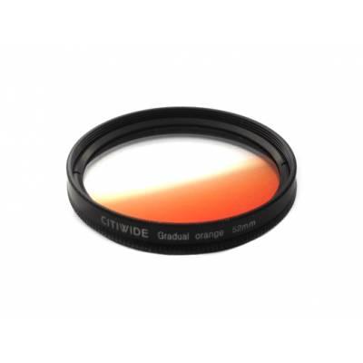 Цветной фильтр 52мм оранжевый градиент, CITIWIDE