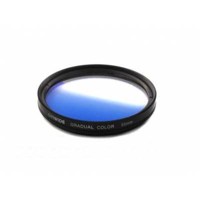 Цветной фильтр 55мм синий градиент, CITIWIDE