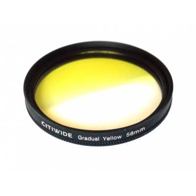 Цветной фильтр 58мм желтый градиент, CITIWIDE