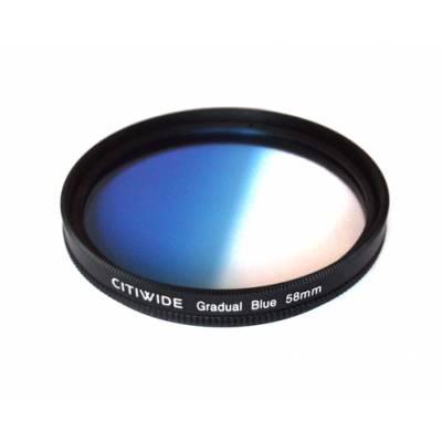 Цветной фильтр 58мм синий градиент, CITIWIDE