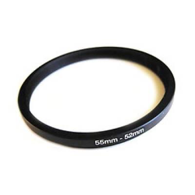 Понижающее степ кольцо 55-52мм для Canon, Nikon