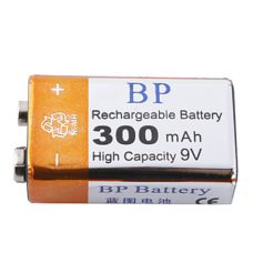 Аккумулятор BP 9В CR-9V Крона 6F22 6LR61 300мАч