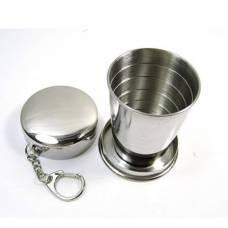 Складний стакан з нержавіючої сталі (великий)