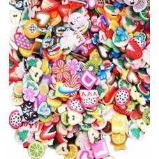 1000 наклейок фімо для нігтів, нейл-арт, манікюр