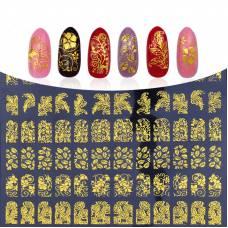 108 золотистих наклейок для нігтів нейл-арт манікюр