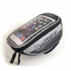 Нарамная сумка, велосумка для смартфона, L, серая