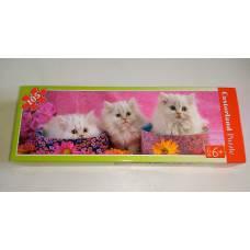 Пазл Белые котики, 105 шт, 6+