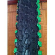 Вело покрышка Hengqi черно зеленая 26х2.125 Small Block Eight