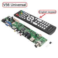 Универсальный контроллер ЖК матриц, скалер с ДУ, телевизор версия V56