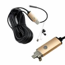 10м USB / microUSB камера, 5.5мм, бороскоп, ендоскоп
