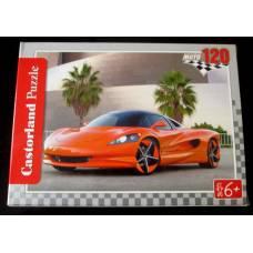Пазл Красный спортивный автомобиль, 120 шт, 6+
