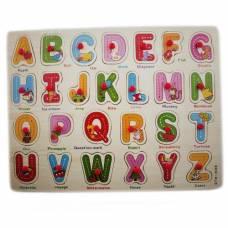 Навчальна дерев'яна дошка Сегена, рамки-вкладиші, англ. алфавіт друга версія