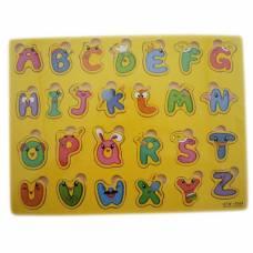 Навчальна дерев'яна дошка Сегена, рамки-вкладиші, англ. алфавіт новий дизайн